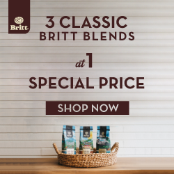 3 classic Britt blends at 1 special price. Shop Now