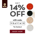 Get 14% OFF Sitewide with code: VDAY1419 .Shop Now