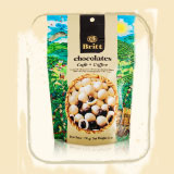 White Chocolate Covered Coffee Beans Bag 6 Ounces 170 Grams