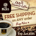 Free Shipping on ANY order at Cafe Britt - Exp June 20 -