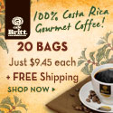 100% Costa Rica Coffee 20 Bags and Free Shipping 125x125
