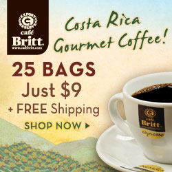 Costa Rica Gourmet Coffee 25 Bags just $7.95 250x250