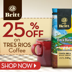 ALL Tres Rios Coffee 25% OFF