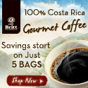 100% Costa Rica Gourmet coffee. Free shipping on 8 bags