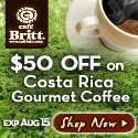 $40 OFF on 20 Gourmet coffees by Cafe Britt