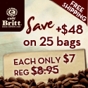 Cafe Britt 25 gourmet coffee special