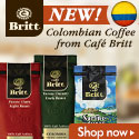 Shop NEW Colombia coffee from Cafe Britt! Get Free Shipping on 6 bags or more!