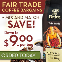 Down to $9.00 ea + Free Coffee and Free Shipping
