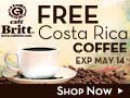 Free bag of Costa Rican Gourmet coffee!