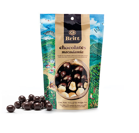 Dark chocolate covered macadamia