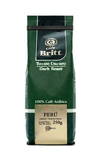 Peruvian dark roast ground coffee