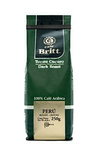 Peruvian dark roast whole bean coffee