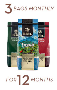Coffee Brewers Club 3 bags monthly for 12 months