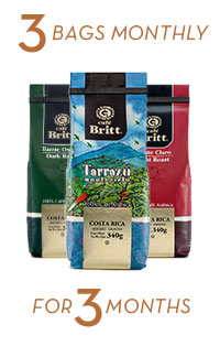 Coffee Brewers Club 3 bags monthly for 3 months
