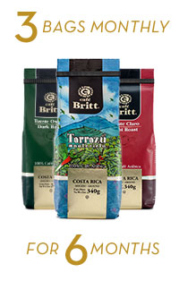 Coffee Brewers Club 3 bags monthly for 6 months