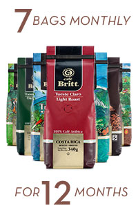 Coffee Brewers Club 7 bags monthly for 12 months
