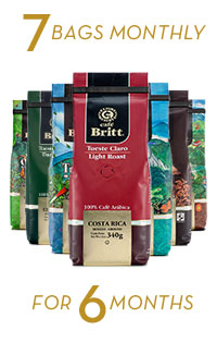Coffee Brewers Club 7 bags monthly for 6 months