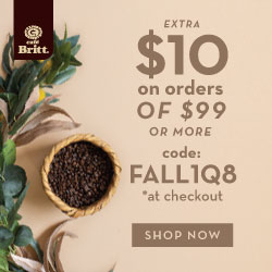 $10 OFF on orders of $99 or more with code: FALL1Q8 *at checkout. Shop Coffee