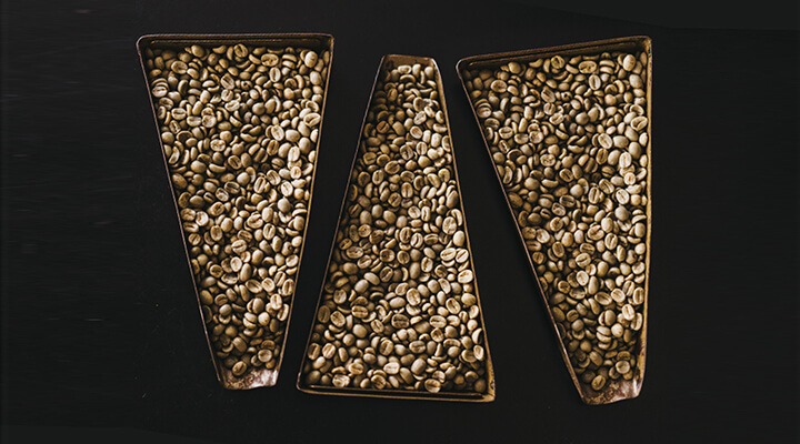 coffee beans on plates