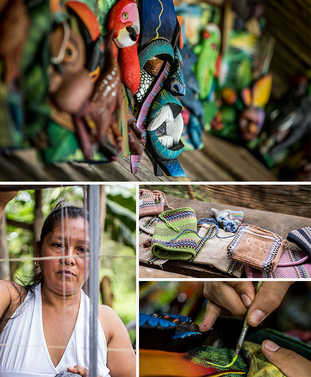 Woman with Costa Rican handicrafts