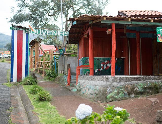 Rustic souvenir store in Costa Rica