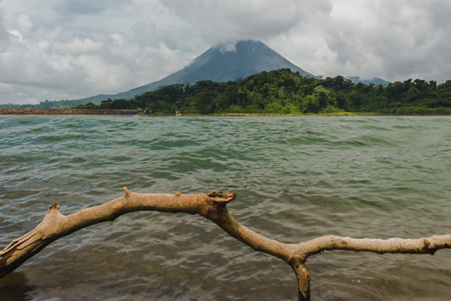 View of Lake Arenal and Arenal Volcano