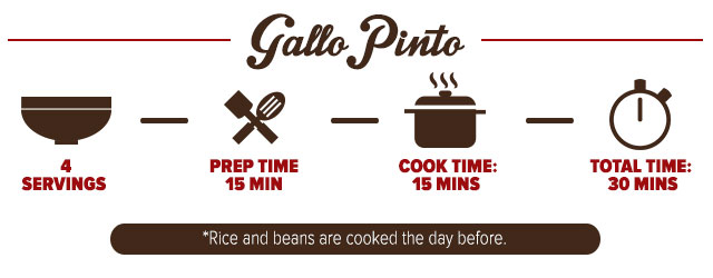 Infographic for recipe for gallo pinto