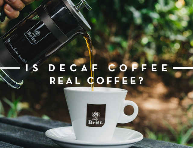 Decaf Coffee Real Coffee