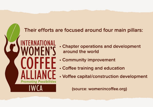 Infographic about the International Women's Coffee Alliance
