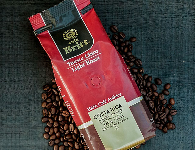 Bag of Cafe Britt Light Roast coffee