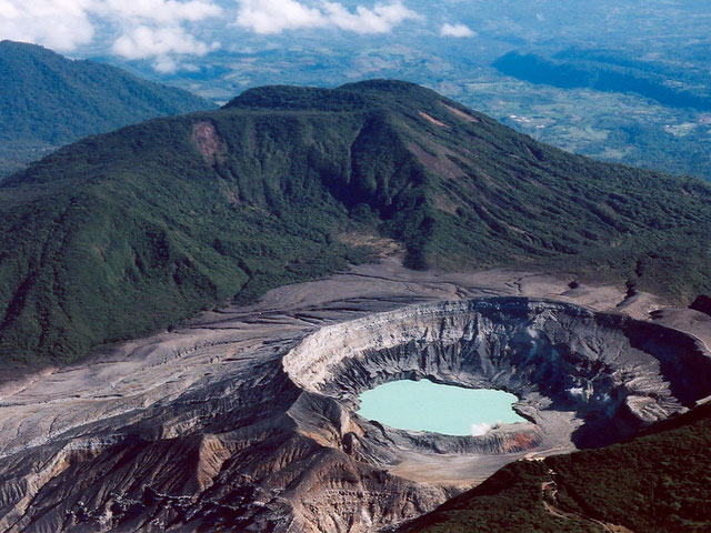 Poás volcano in Costa Rica