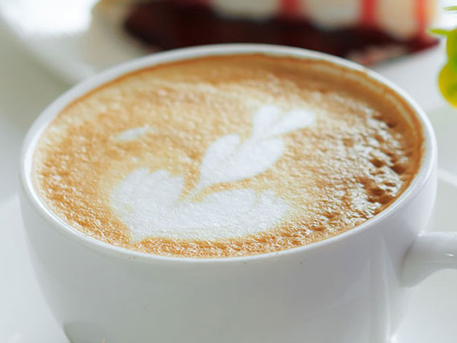 Cappuccino in white cup