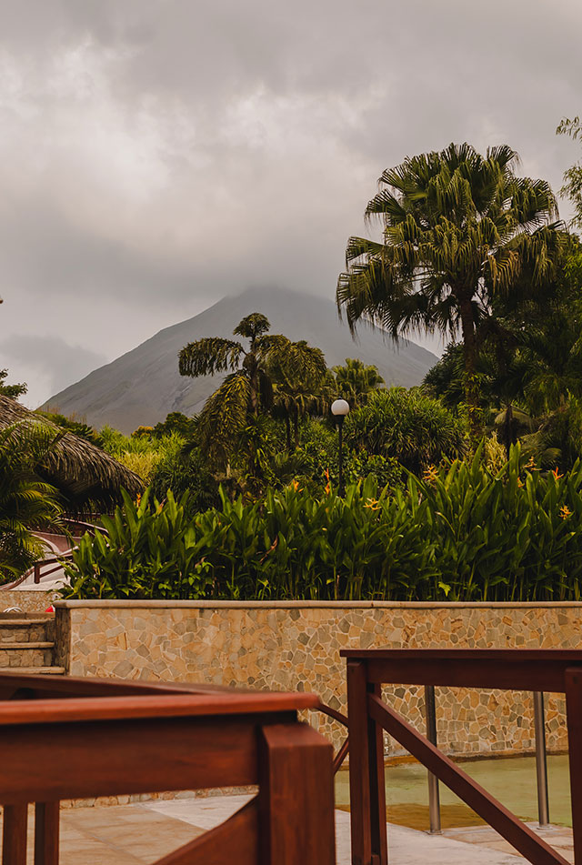 View of Arenal Volcano from Tabacon Resort