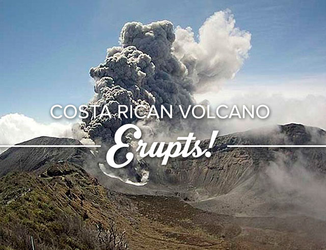 Turrialba Volcano Erupts