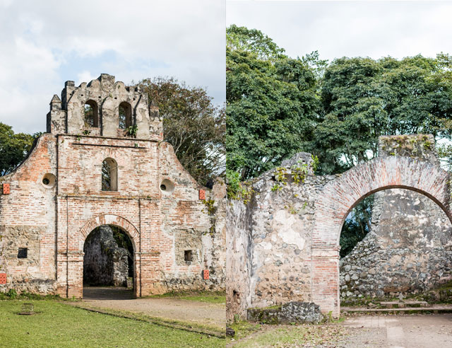 Ruinas de Ujarras, two views
