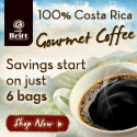 100% Costa Rica Gourmet coffee.