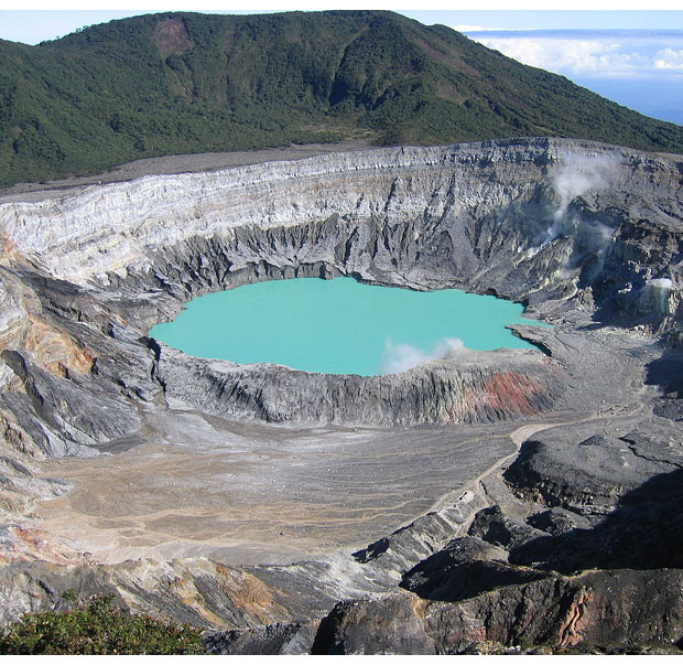 View of the Poás Volcano crater