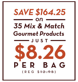 35 mix and match gourmet products