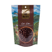 Milk chocolate covered coffee beans