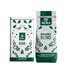 Holiday blend Gourmet Coffee with canister