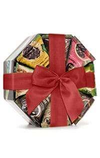 Octogonal chocolate gift ribbon