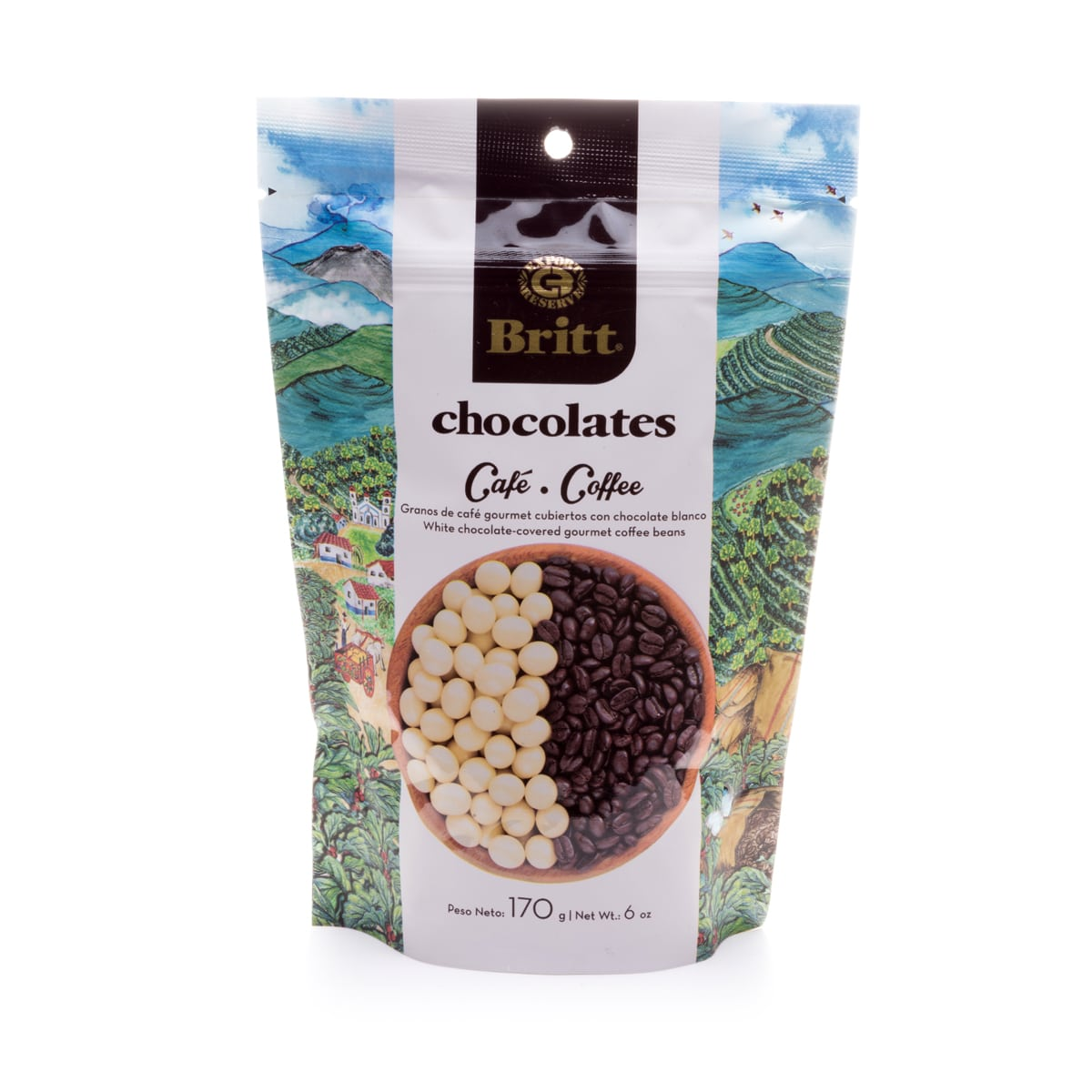 White Chocolate Covered Coffee Beans